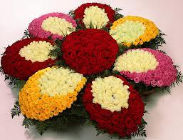 Papatya şeklinde 1001 adet güllerden özel tasarım