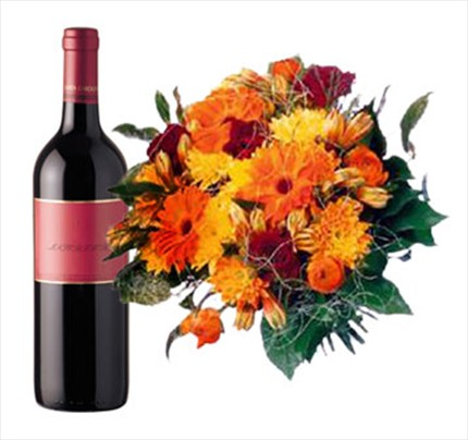 Karışık buket ve şarap