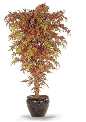 Yapay sonbahar ağaç küp saksıda dekore edilmiş ortalama boy(170-200 cm)