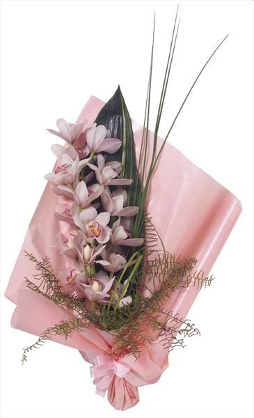 tek dal orkide ile hazırlanmış şık buket