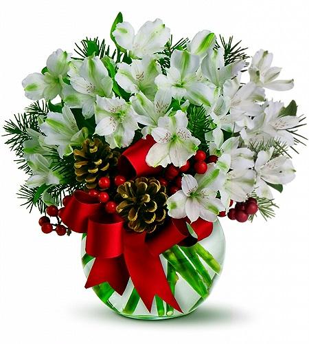 Beyazın asaleti saflığı/Muhteşem beyaz astomerya'lardan hazırlanmış butik tasarım aranjman