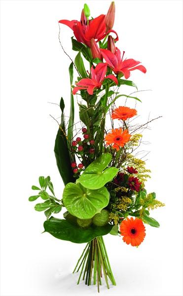 Özel dekore edilmiş mevsim buketi