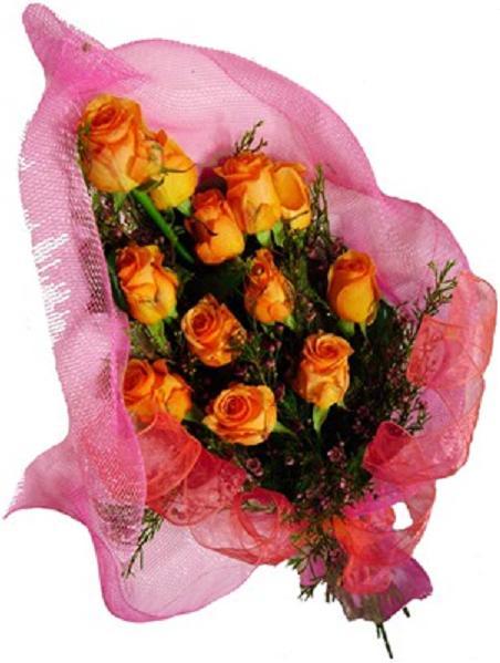 Güllerle hazırlanmış buket
