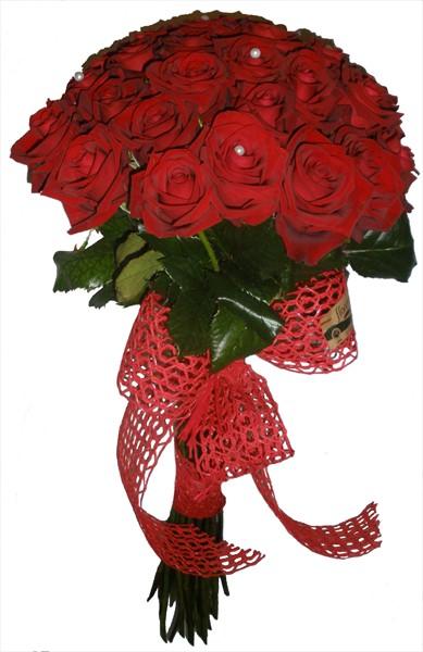 Kırmızı güllerden buket