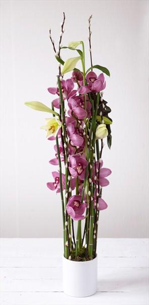 Orkide ve lilyumlardan özel tasarım