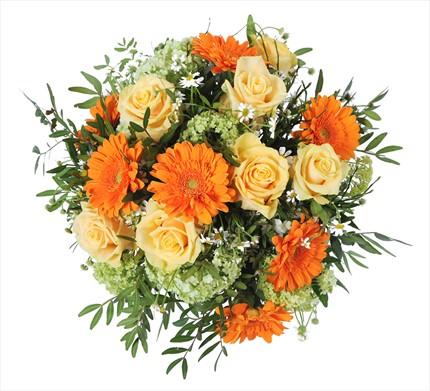 Mevsim çiçeklerinden hazırlanmış şık buket