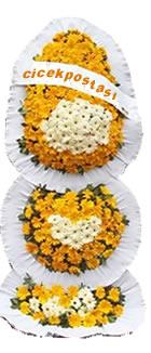 Sarı beyaz cerberalar ile özel tasarım düğün ve açılış çiçeği