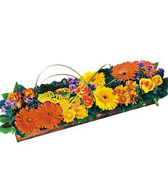 Rengarenk çiçek aranjmanı