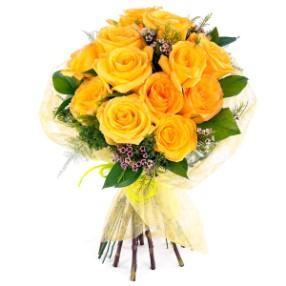 12 adet sarı güller