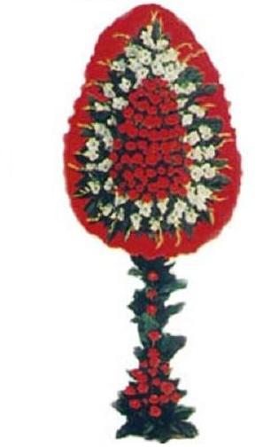 Standart düğün ve açılış çelengi ortalama boy (225-250 cm) sepet çelenk duvak
