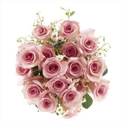 Pembe güllerden hazırlanmış buket