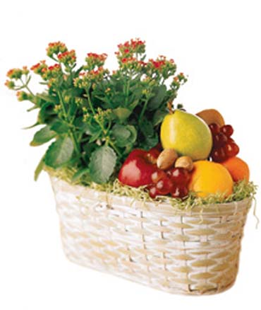 Meyve ve çiçek sepeti