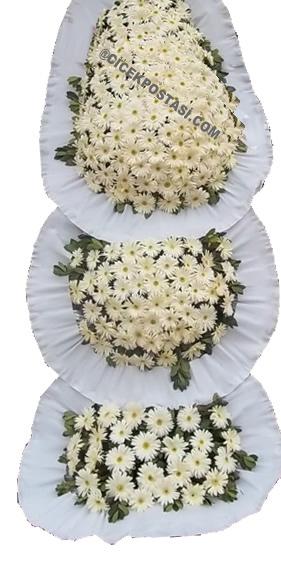 3 katlı özenle hazırlanmış düğün ve açılış çiçeği çelenk duvak ortalama boy (240-260cm)