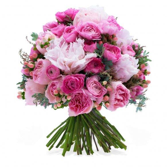 Şakayıklar ile hazırlanmış muhteşem buket özel biri için özel çiçek gönderin
